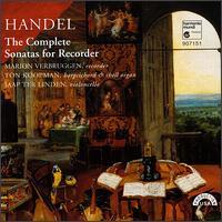 Handel: The Complete Sonatas for Recorder - Jaap ter Linden (cello); Marion Verbruggen (recorder); Ton Koopman (harpsichord); Ton Koopman (organ)