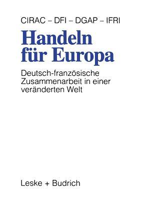 Handeln Fur Europa: Deutsch-Franzosische Zusammenarbeit in Einer Veranderten Welt - Dfv (Editor)
