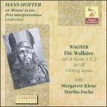 "Hans Hotter as ""Wotan"" in his first interpretations (1938 - 1942)"