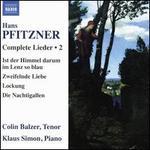 Hans Pfitzner: Complete Lieder, Vol. 2