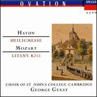 Haydn: Heilegmesse; Mozart: Litany - April Cantelo (soprano); Christopher Keyte (bass); David Hill (organ); Ian Partridge (tenor); Jonathan Bielby (organ); Margaret Cable (contralto); Margaret Marshall (soprano); Shirley Minty (contralto); Stephen Roberts (bass); Wynford Evans (tenor)
