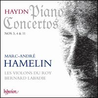 Haydn: Piano Concertos Nos. 3, 4 & 11 - Les Violons du Roy; Marc-André Hamelin (piano); Les Violons du Roy; Bernard Labadie (conductor)