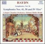 """Haydn: Symphonies Nos. 41, 58 and 59 """"Fire"""""""