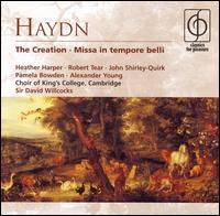 Haydn: The Creation; Missa in tempore belli - Alexander Young (tenor); Andrew Davis (organ); Heather Harper (soprano); James Blades (tympani [timpani]);...