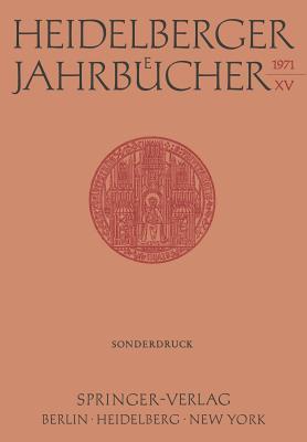 Heidelberger Jahrbucher - Schipperges, H