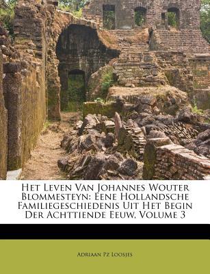 Het Leven Van Johannes Wouter Blommesteyn: Eene Hollandsche Familiegeschiedenis Uit Het Begin Der Achttiende Eeuw, Volume 3 - Loosjes, Adriaan