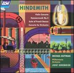 Hindemith: Violin Concerto; Dammermusik No. 4; Suite of French Dances; Concerto for Orchestra - David Corkhill (percussion); Hugh Bean (violin); Mark David (trumpet); Michaël Guttman (violin); Philharmonia Orchestra;...