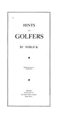 Hints to Golfers - Niblick
