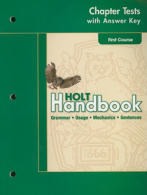 Holt Handbook First Course Chapter Tests With Answer Key