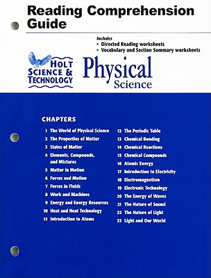 Holt Science & Technology Physical Science Reading Comprehension Guide - Holt Rinehart & Winston (Creator)
