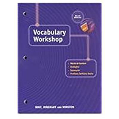Holt Traditions Vocabulary Workshop: Vocab Workshop Grade 12 - Holt Rinehart & Winston, and Holt Rinehart and Winston (Prepared for publication by)