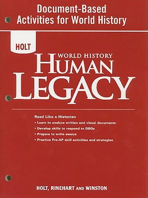 Holt World History Human Legacy Document-Based Activities for World History - Holt Rinehart & Winston (Creator)