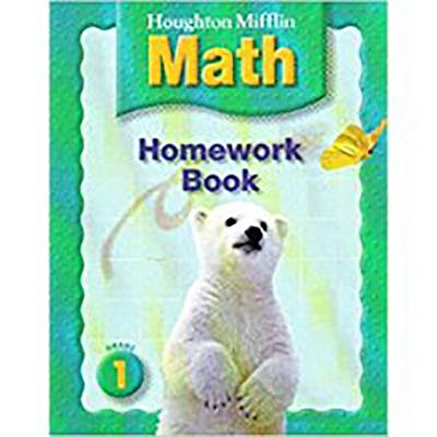 Houghton Mifflin Math: Homework Book (Consumable) Grade 1 - Houghton Mifflin Company (Prepared for publication by)
