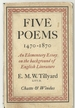 Five Poems, 1470-1870; : an Elementary Essay on the Background of English Literature