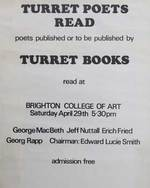 Turret Poets Read at Brighton College of Art