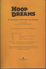 Hoop Dreams: A True Story of Hardship and Triumph (collectible proof copy)
