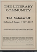 The Literary Community: Selected Essays: 1967-2007