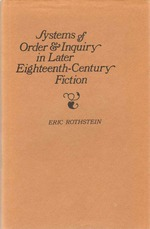 Systems of Order and Inquiry in Later Eighteenth-Century Fiction