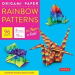 "Origami Paper-Rainbow Patterns-6"" Size-100 Sheets"