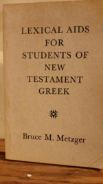 Lexical Aids for Students of New Testament Greek.