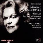 In Memoriam Maureen Forrester: Mahler - Des Knaben Wunderhorn