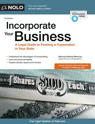 Incorporate Your Business - Mancuso, Anthony, Attorney