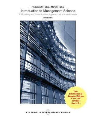 INTRODUCTION TO MANAGEMENT SCIENCE - Hillier, Frederick S.