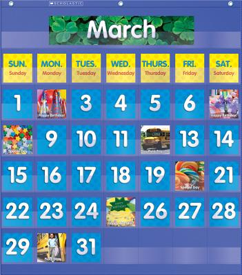 Monthly Calendar Pocket Chart - Scholastic Inc