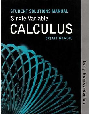 Single Variable Calculus: Early Transcendentals Student Solutions Manual - Rogawski, Jon