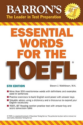 Essential Words for the TOEFL - Matthiesen, Steven J