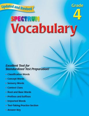 Vocabulary, Grade 4 - School Specialty Publishing, and Carson-Dellosa Publishing, and Spectrum (Compiled by)