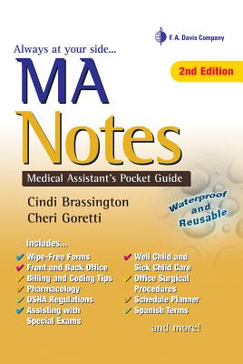 MA Notes: Medical Assistant's Pocket Guide - Brassington, Cindi, and Goretti, Cheri