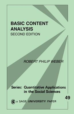 Basic Content Analysis - Weber, Robert Philip (Editor)