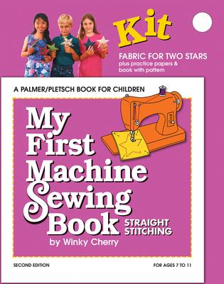 My First Machine Sewing Book: Straight Stitching - Cherry, Winky