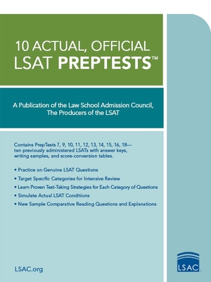 10 Actual, Official LSAT Preptests - Law School Admission Council (Creator)