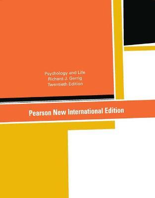 Psychology and Life - Gerrig, Richard J.