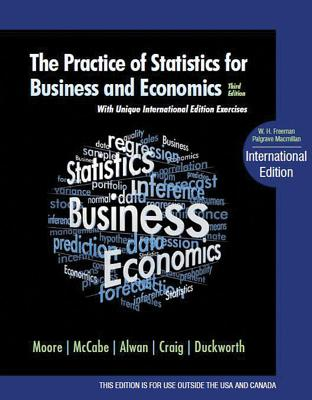 The Practice of Statistics for Business and Economics - Moore, David S, Professor