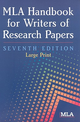 MLA Handbook for Writers of Research Papers - Gibaldi, Joseph