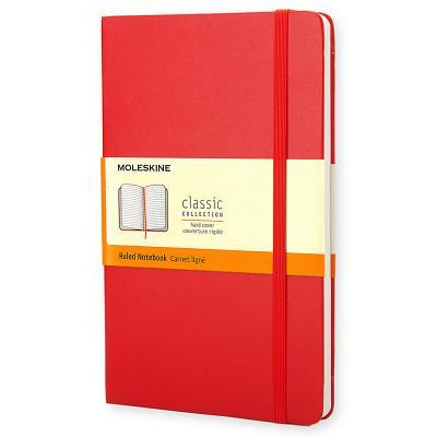 Moleskine Classic Red Notebook, Ruled Large - Moleskine