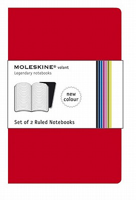 Moleskine Set of 2 Ruled Notebooks-Red - Moleskine (Creator)