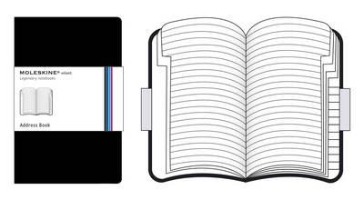 Moleskine Volant Pocket Address Book Bla - Moleskine