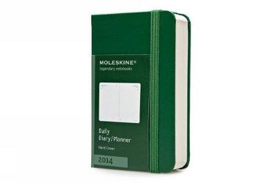 Moleskine 2014 Daily Planner, 12 Month, Extra Small, Oxide Green, Hard Cover (2.5 X 4 ) (Planners & - Moleskine