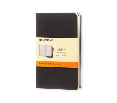 Moleskine Ruled Cahier Journal Black Pocket: Set of 3 Ruled Journals - Moleskine