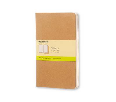 Moleskine Plain Cahier Journal Kraft Large: Set of 3 Plain Journals - Moleskine