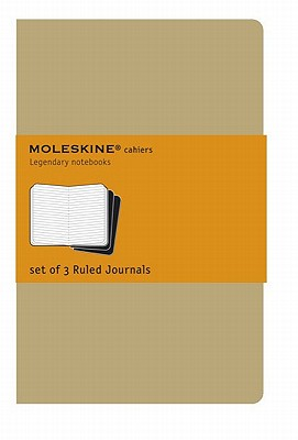 Moleskine Cahier Journal (Set of 3), Extra Large, Ruled, Kraft Brown, Soft Cover (7.5 X 10) - Moleskine (Creator)