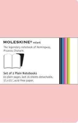 Moleskine Volant Notebook Plain, Pink Pocket: Set of 2 - Moleskine