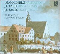 J.G. Goldberg: Kantaten; J.L. Bach: Missa brevis; J.L. Krebs: Magnificat - Ex Tempore; Lieven Termont (baritone); Marianne Vliegen (alto); Sophie Karthäuser (soprano); Stephan Van Dyck (tenor);...