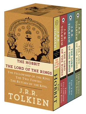 J.R.R. Tolkien 4-Book Boxed Set: The Hobbit and the Lord of the Rings (Movie Tie-In): The Hobbit, the Fellowship of the Ring, the Two Towers, the Return of the King - Tolkien, J R R