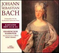 J.S. Bach: Kantaten, BWV 213 & 214 - Barbara Holzl (alto); Elisabeth Scholl (soprano); Hanno Muller-Brachmann (bass); Jan Kobow (tenor); Lukas Kampkötter (echo);...