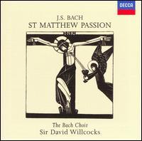 J.S. Bach: St. Matthew Passion - Adam Skeaping (viola da gamba); Alexa Turpin (flute); Alfreda Hodgson (contralto); Charles Tunnell (cello);...